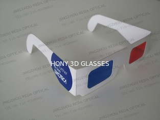 Paper Frame Anaglyph 3D Glasses Red And Blue For Home Theater
