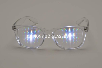 Plastic Rainbow Diffraction Glasses  Style For Led Lighting Show