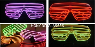 Plastic Glowing El Wire Glasses For Party
