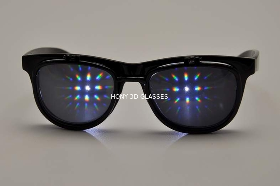 چین Plastic Double Diffraction Glasses , Flip Up Sunglasses For Festival کارخانه