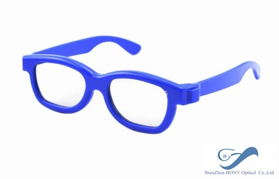 چین Blue Frame Reald 3D Polarized Glasses Circular For Kids And Adult توزیع کننده