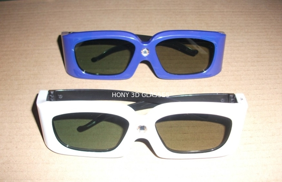 چین Green Blue Stereoscopic Universal Active Shutter 3D Glasses Compatible Link توزیع کننده